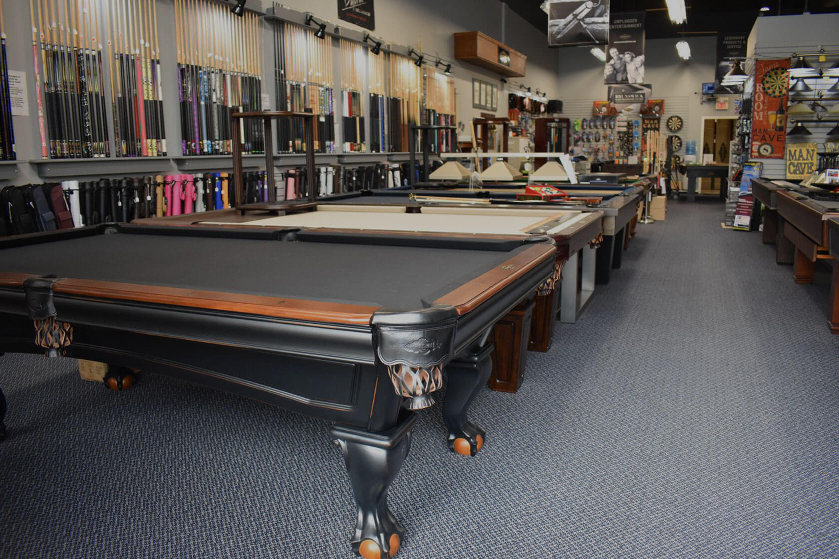 Billiard showroom